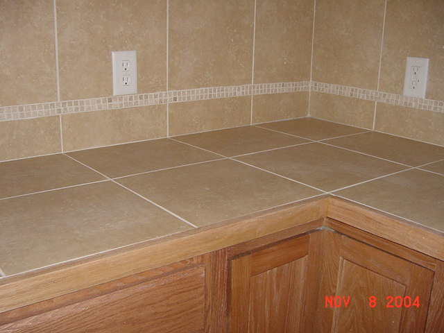 Kitchen Countertop And Backsplash Tile